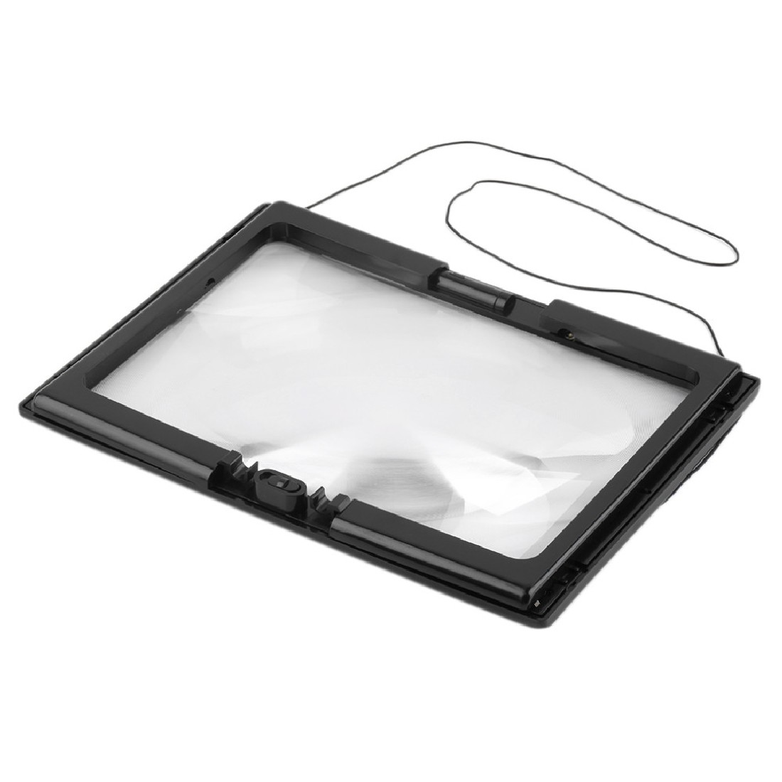 Magnifier 3X Giant Large Hands Free Desk Magnifying Glass With 4 LED Light for Reading Sewing Knitting