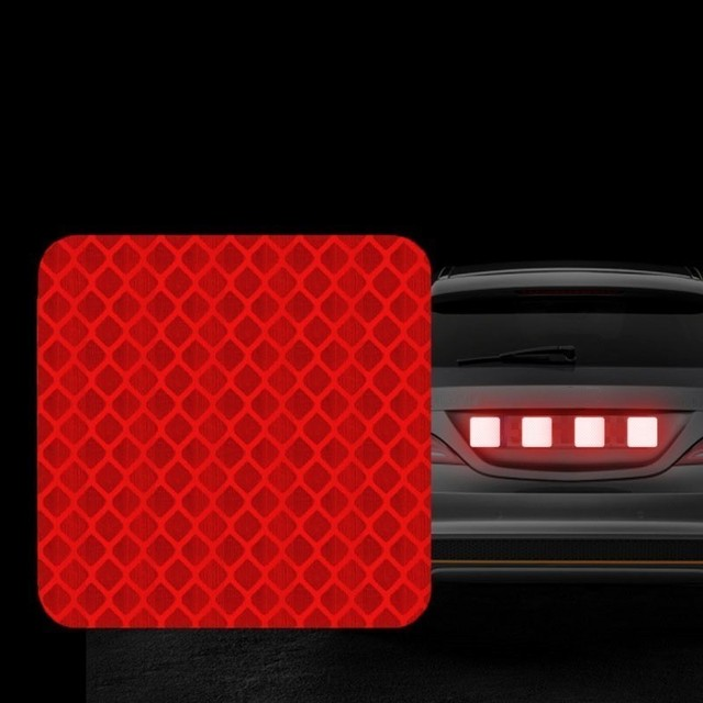 ECM#3 Car Styling Safety Warning  Reflector Collision Body Tail Diamond  Moto Auto Exterior Accessories Tape Reflective Stickers