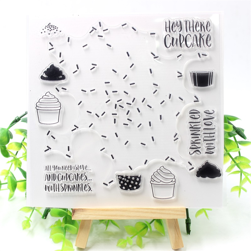 YPP CRAFT Cake Transparent Clear Silicone Stamps for DIY Scrapbooking/Card Making/Kids Fun Decoration Supplies