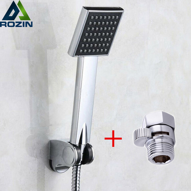 Wall Mounted Handshower Holder Chrome Handheld Shower Head 150cm