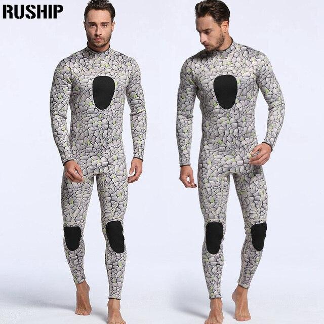 professional Men 3mm Neoprene diving suits warm keeping patchwork Rash Guards swimwear long sleeve Spearfishing snorkeling one