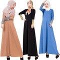 Azul Cáqui Preto Cores Mulheres Muçulmanas Vestido Longo Malásia Turco Islâmico Dubai Adoração Adulto Trajes Da Menina Roupas Vestido Da Senhora