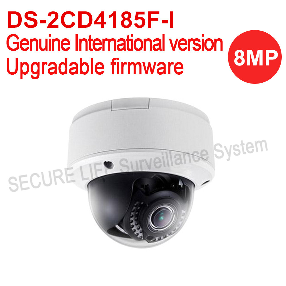 Free shipping HIKVISION English version DS-2CD4185F-I 8MP smart indoor dome ip CCTV camera 4K POE VF ens with smart focus IK10