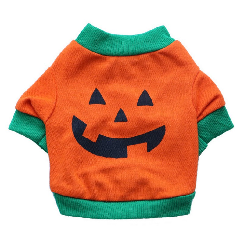 Halloween Pumpkin Two Legs Printing Pet Dog Coat For Bulldog Two Color Selection From S to XXL New Dogs Clothing