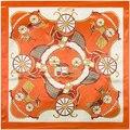 90 cm * 90 cm Design de moda da Marca Cachecol Inverno Cachecóis Nacional Coreano Moda Elegante big Flower Impresso Voile de Algodão longo Lenço