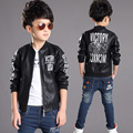 Children Jacket Puleather Clothing 2016 Fasion Spring Long Sleeve Jacket For Boys Kids Outerwear Hot Sale