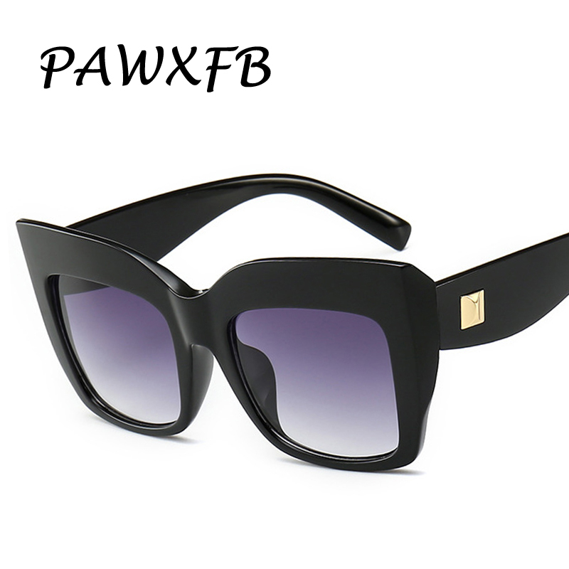 PAWXFB 2019 Gradient Square Sunglasses Women Brand Designer Big Frame Shades Sun Glasses Oculos De Sol Feminino Lentes UV400 in Women 39 s Sunglasses from Apparel Accessories