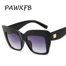 PAWXFB 2019 Gradient Square Sunglasses Women Brand Designer Big Frame Shades Sun Glasses Oculos De Sol Feminino Lentes UV400