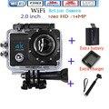 4 К ultra HD Камера Wifi Спорт Действий Камеры 2.0 Дюймов 16MP 1080 P 170 Широкоугольный Объектив 4 К HD Спорт Водонепроницаемая Камера Бесплатно доставка