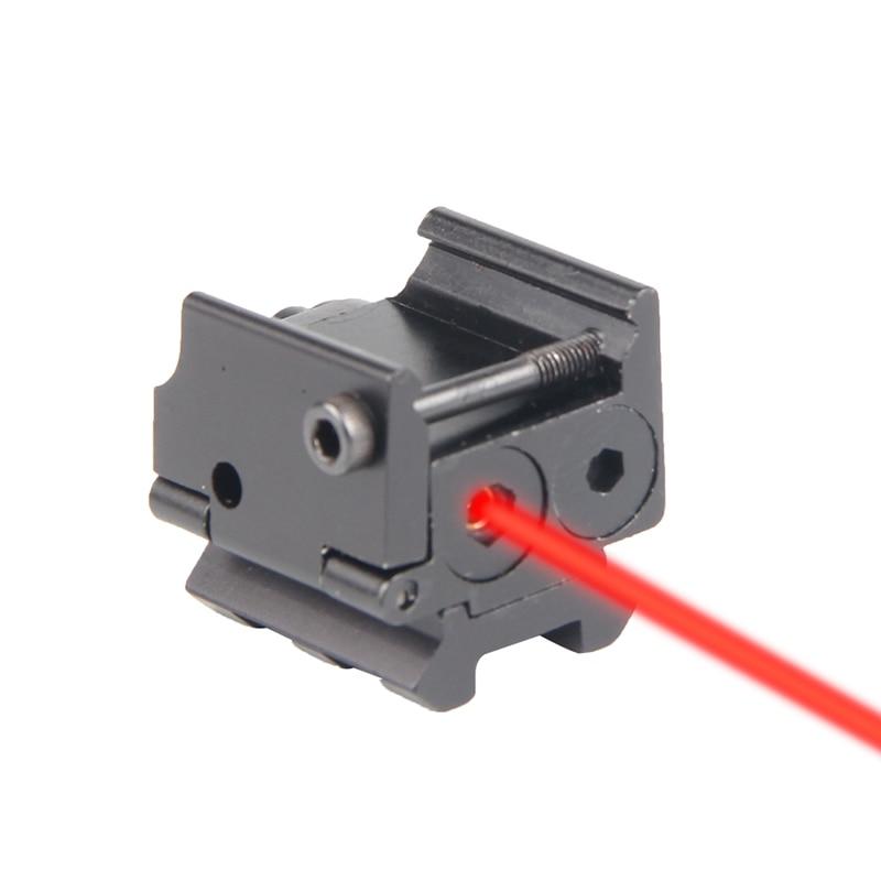 Tactical Mini Red Dot Laser Sight Scope Rail Weaver Detachable Picatinny 20MM Rail Mount For Pistol HT3-0012