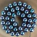 Envío de la manera diy 10mm negro natural shell loose beads alto grado de las mujeres elegantes de regalos de joyería de diy que hace 15 pulgadas MY4590