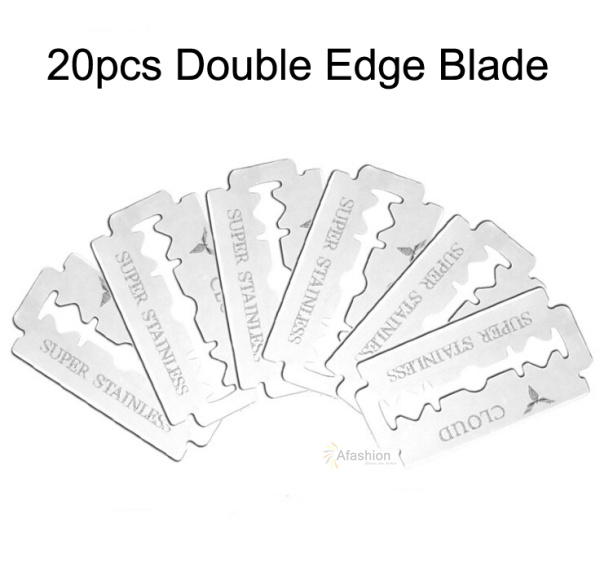 20pcs Double Edge Blade Safety Razor Blades Beard Hair Cutting Shaving Sharper Thinning Knife Cartridge Tools