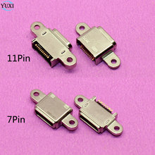 1pcs Micro USB jack socket connector 11Pin for Samsung Galaxy S7 G9300 G930F for S7 edge G9350 G935F phone charging port