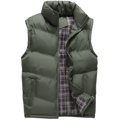 2017 Neue Winter Männer Weste Baumwolle Gefütterte Verdicken Thermische Outwear Beiläufige Weste Männer Jacke Sleeveless Plus Größe M-3xl Grau Förderung