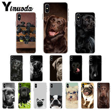 Yinuoda Black cute labrador dog Coque Shell Phone Case for Apple iPhone 8 7 6 6S Plus X XS MAX 5 5S SE XR Mobile Cover(China)