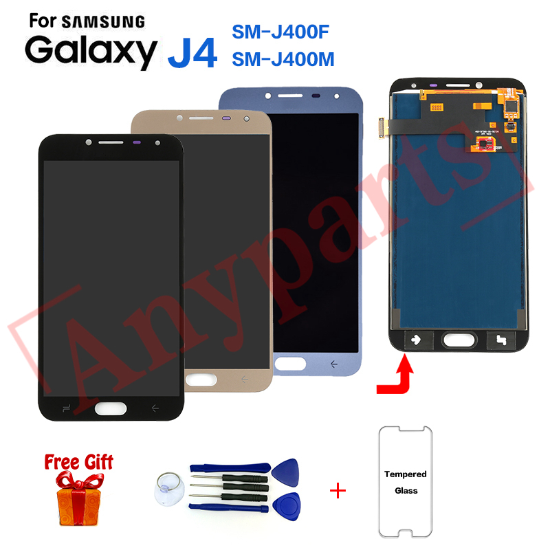 AMOLED para Samsung J4 SM-J400 pantalla lcd pantalla para reemplazo para Samsung Galaxy J4 SM-J400F SM-J400G pantalla lcd Módulo de pantalla