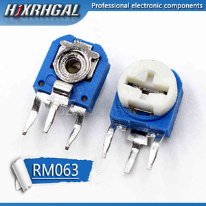 50pcs RM063 RM-063 100 200 500 1K 2K 5K 10K 20K 50K 100K 200K 500K 1M ohm Trimpot Trimmer Potentiometer variable resistor