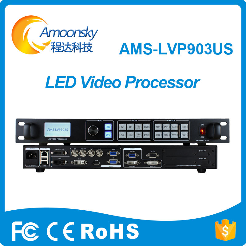 latest style outdoor smd led display LVP903US led video seamless switcher business sign video processor add sdi and usb wavelets processor