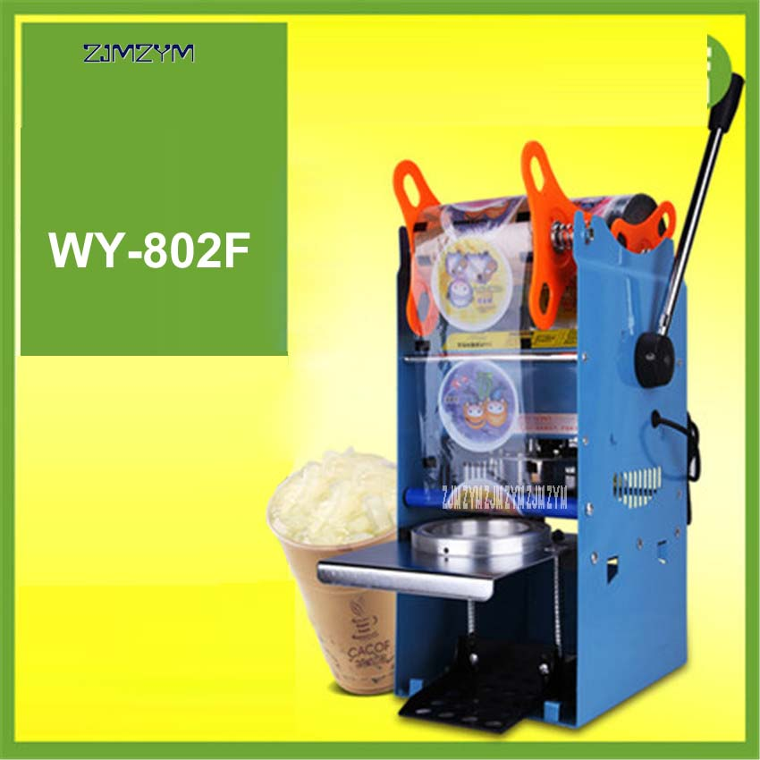 WY-802F Bubble tea machine Manual Cup sealing machine for 9.5cm cup 220V/50hz Cup sealer for Coffee/Bubble tea Sealing machine 220v semi automatic bubble tea cup sealing machine cup sealer wy 168 page 7