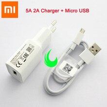 Oryginalny Xiao mi adapter mocy ue 5V 2A ładowarka ścienna mi A2 Lite mi cro kabel USB dla czerwonego mi 6 5 6A 5A 4A uwaga 5 Pro 3 6 4X S2 4