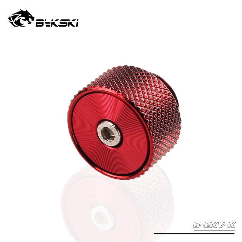 BYKSKI G1/4 ''выпуск воздушная пробка/ручной выпускной клапан воздушный выпускной клапан уплотнительный замок для система водяного охлаждения - Цвет лезвия: full red