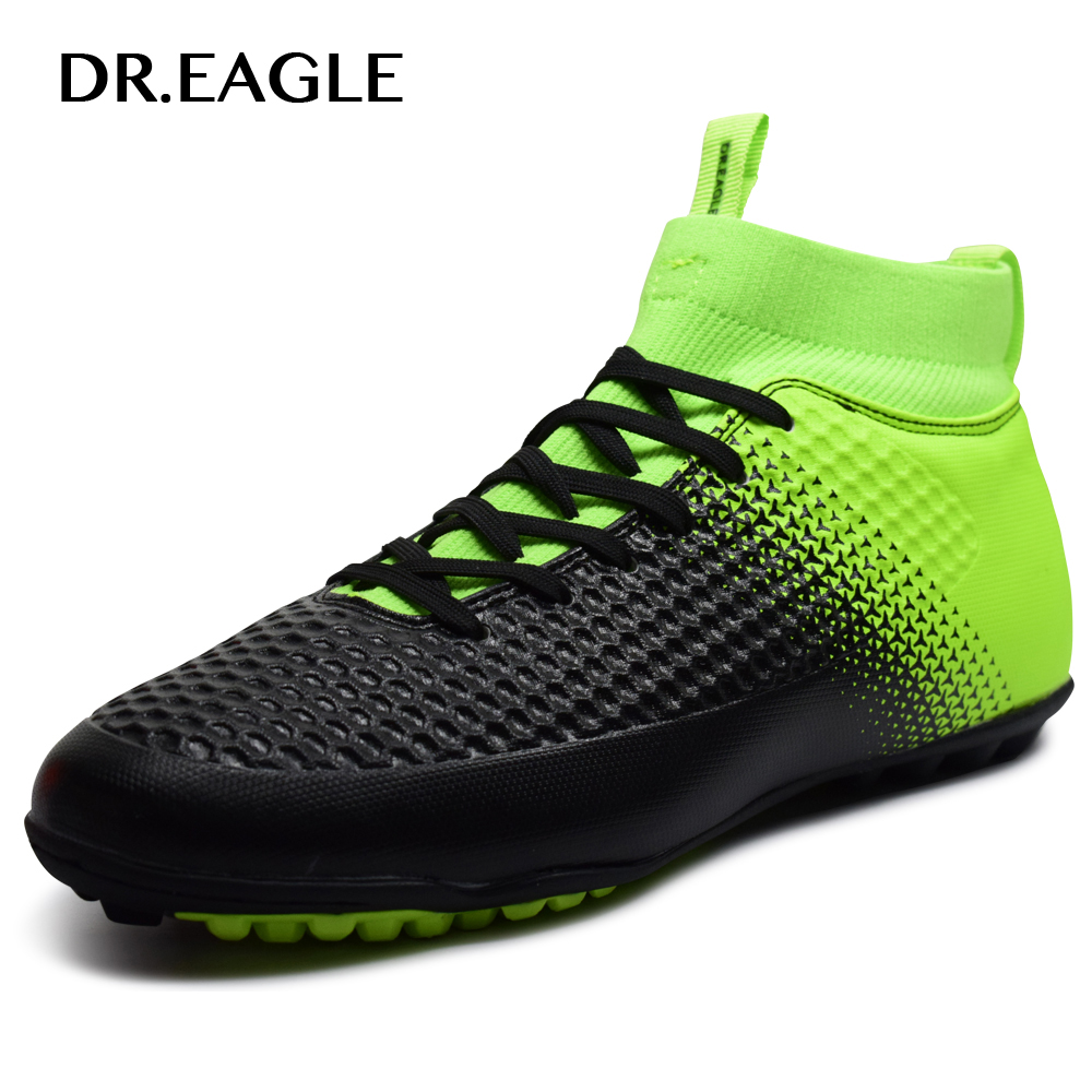 DR.EAGLE High Ankle TF/turf Indoor soccer boots MAN SHOES SPORTS FOOTBALL boot futzalki football sneakers soccer cleats dr eagle indoor futsal sports centipede boot boys football boots kids turf futzalki top soccer shoes cleats kids sneakers