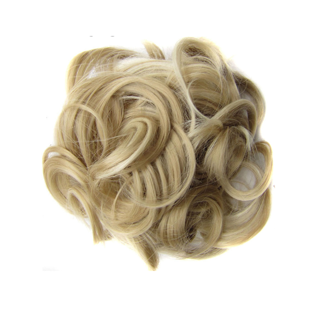 TOPREETY Heat Resistant Synthetic Hair Extension 60gr Curly Chignon Drawstring Rubber Band Updo Donut Q6