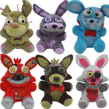18cm New FNAF Plush Toys Five Nights At Freddy's 4 Freddy Bear Mouse Foxy Chica Bonnie Plush Stuffed Toys Doll for Kids Gifts(China)