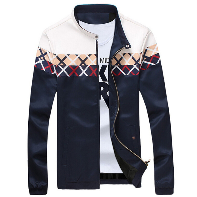 2017 New Fashion Brand Jacket Men Trend Plaid Patchwork Korean Slim Fit  Mens Designer Clothes Men Casual Print Jacket 4XL 5XL 32b7ad58f9f5