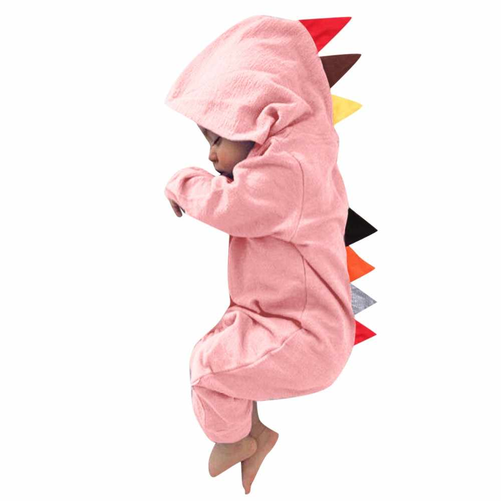 f0cfd87ce MUQGEW Newborn Infant Baby Boy Girl Dinosaur Hooded Romper Jumpsuit Outfits  Clothes Long Sleeve Solid Baby