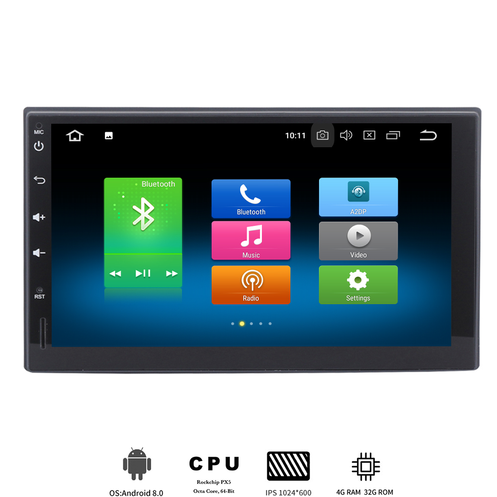 7 Inch 2 DIN Android 8 0 Universal Car GPS Stereo font b player b font