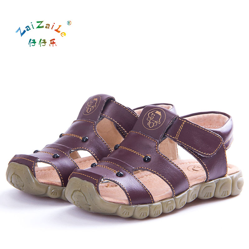 Outdoor Beach Child Boys Sandals High Quality Retro Genuine Leather Casual Kids Shoes Fashion Boys Kids Sandals For Girls KS70