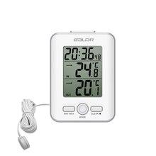 Baldr ميزان الحرارة الرقمي على مدار الساعة مقياس الحرارة في الأماكن المغلقة في الهواء الطلق السلكية جهاز استشعار المسبار ساعة LCD إنذار غفوة ساعة محطة الطقس