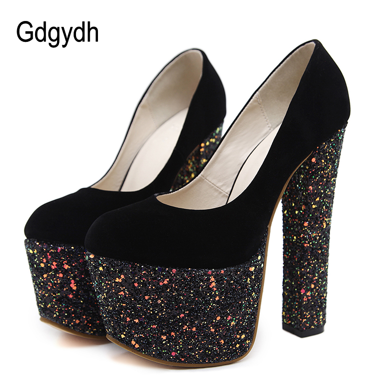 3564907bf0 Gdgydh Fashion Women Heels Platform Shoes 2018 New Spring Autumn ...