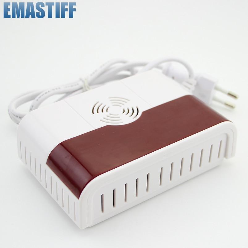imágenes para 433 MHz Wireless Detector de Fugas de Gas Natural En Casa Cocina Dispositivo de Seguridad Sirena de Alarma de Seguridad Del Sensor Envío Gratis