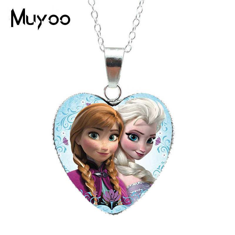 2019 vente en vogue élégant bijoux douce princesse fée histoire Anime film mode chaînes verre dôme coeur pendentifs NecklaceHZ3