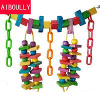 High Quality Colorful Parrot Toys Macaw Cage Chew Bird Toys For Parrots Pet Bird Conure Swing