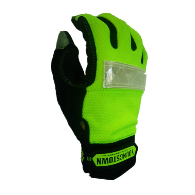 Genuine Highest Quality  Reflective Extra Durable Puncture Resistance Non-slip Working Gloves(Medium ,Green)