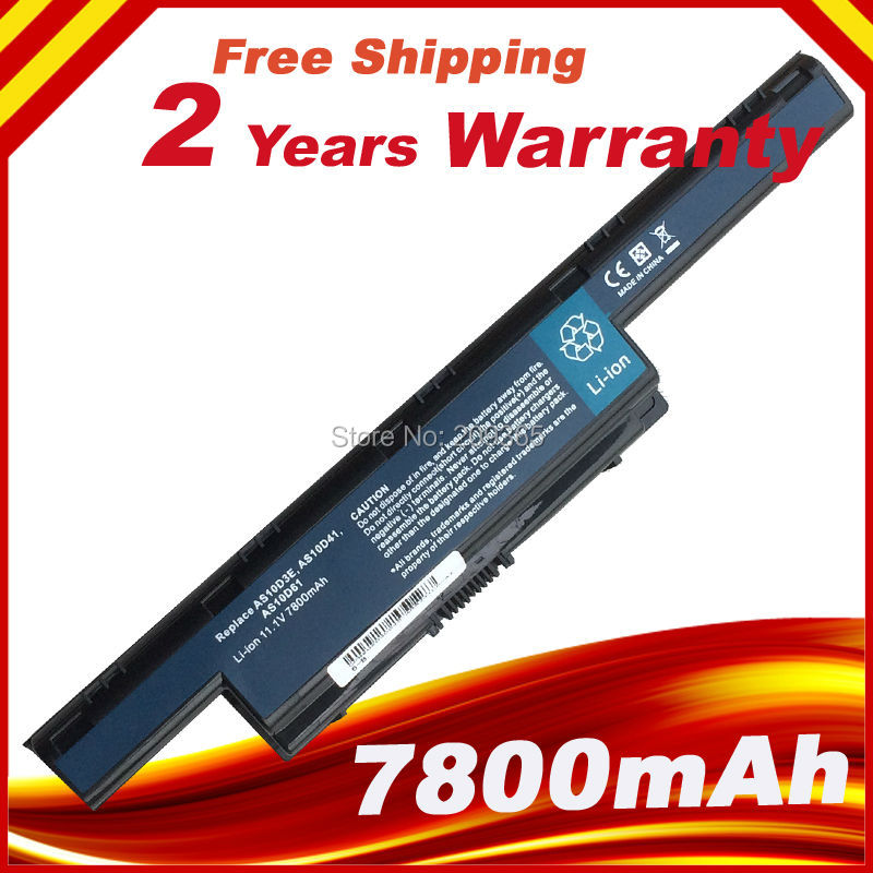 7800mAh 9 Cells Laptop Battery For Acer AS10D31 AS10D75 AS10D51 AS10D71 Aspire 4741 5741 5750g 5552g 5742g 5551g 5560g 5733z