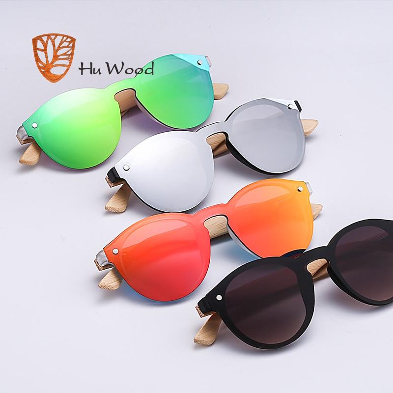 HU WOOD Men Mirror Linser Trä Solglasögon Multi Color Woman - Kläder tillbehör - Foto 5