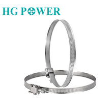 1pc 4/5/6/8'' Stainless Steel Drive Hose Clamp Adjustable Fuel Pipe Tube Clips Gear Clip Clamp for Pipe Tube Anti-oxidation pipe clamps hose clips stainless steel jubilee type durable silver durable anti oxidation corrosion resistant powerful torque