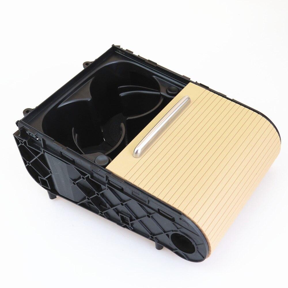 FHAWKEYEQ Voiture Beige Tasse porte-boissons Support Plateau Débris boîte magique Nouveau Pour VW Passat CC B6 B7 2006-2010 3C0 858 329 3CD 858 329A