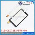 "Nuevo 7 "" pulgadas YLD-CEG7253-FPC-AO HXS pantalla táctil digitalizador del Sensor cristal YLD-CEG7253-FPC-A0 reemplazo envío gratis"