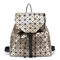 New Geometric Pattern Laser BaoBao Unisex Backpack Women Dazzle Color Plaid Female Fashion Sequins Mirror Free