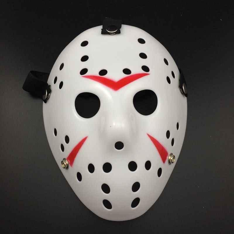 Mais novo Halloween Poroso Máscara Jason Máscara Replica Filme de Terror Máscara de Hóquei Jason Voorhees Friday the 13th Assustadores Do Dia Das Bruxas Máscara Quente