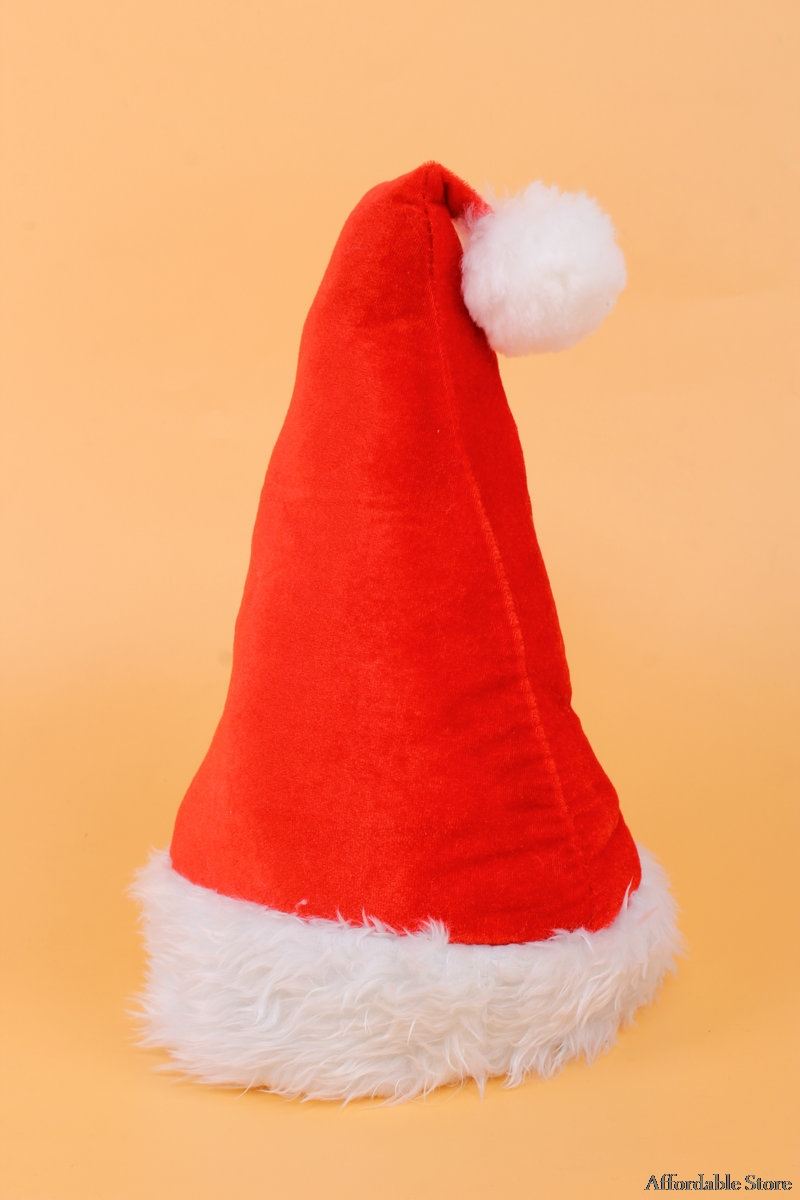 Christmas decorations adult red Christmas hat velvet party hat