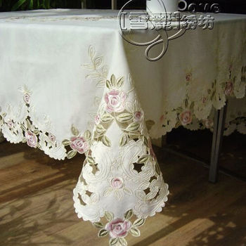 Rustic fashion embroidery fabric embroidered dining table cloth tablecloth bed cover cutout cover towel large