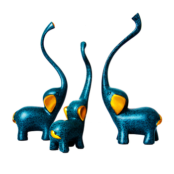 3pcs/set  Deer Elephant Family craft Figurines & Miniatures Elephant resin Decoration Crafts wedding gifts Home Decor Crafts