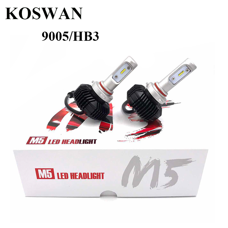 ФОТО M5 HB3 Led Headlight Bulb Conversion kit -32W 5600LM 6000k Cool White Auto LED Headlight Bulb  Replaces Halogen & HID Bulbs 9006