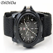 1PCS Men Watch Gemius Army Racing Force Military Officer Fabric Band Quartz Wristwatches Free Shipping relogio